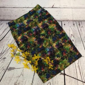 NWOT Lularoe Artsy Watercolor Stripe Pencil Skirt